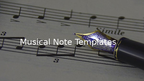 musical note template
