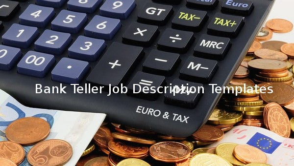 banktellerjobdescriptiontemplate