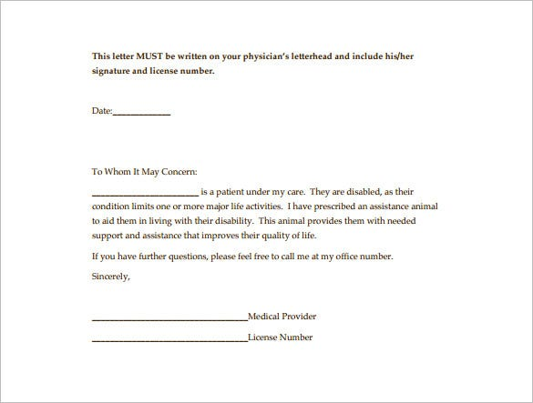 doctor letter pdf format free download