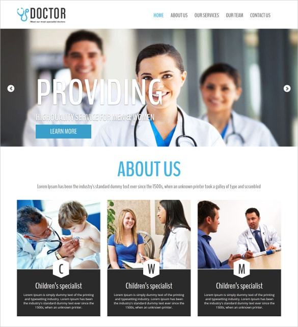 Doctor Responsive HTML Blog Template
