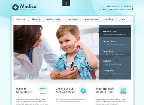 Doctor WorPress Website Blog Template