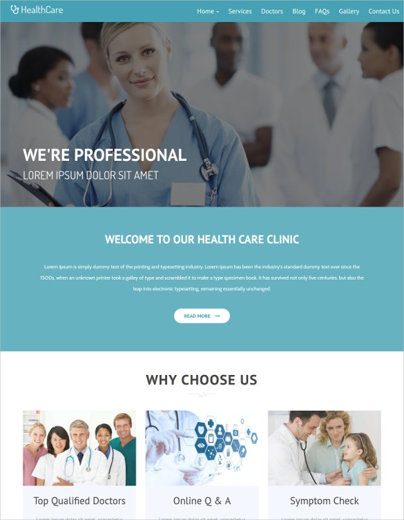 HealthCare HTML5 & BootStrap Template