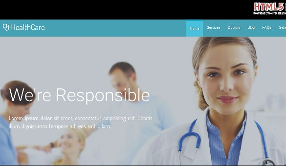 HealthCare Responsive HTML5 Template