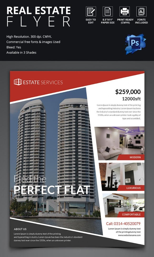 marketing brochure templates - 44 psd real estate marketing flyer templates free