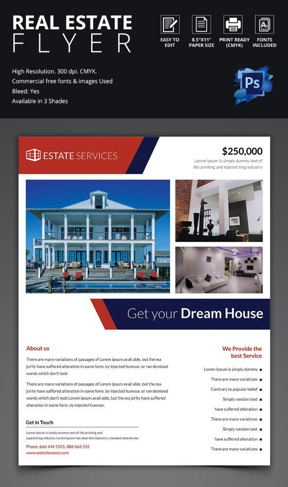 Psd Real Estate Marketing Flyer Templates  Free  Premium