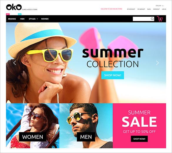 sunglasses fashion store magento theme