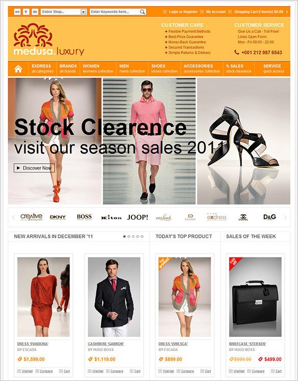 medusa luxury fashion store magento theme