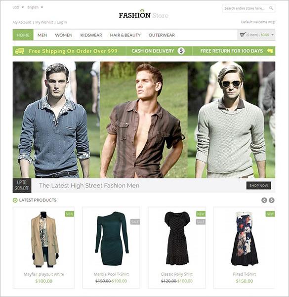 fashion store responsive magento theme