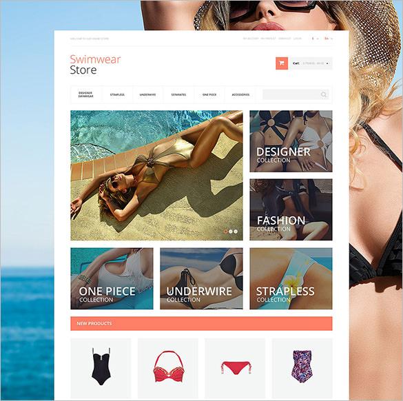gorgeous fashion swimwear magento theme
