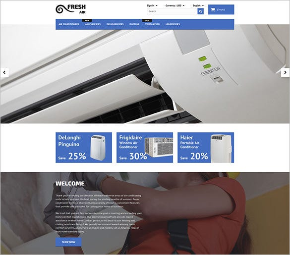 air conditioner maintenance services prestashop theme