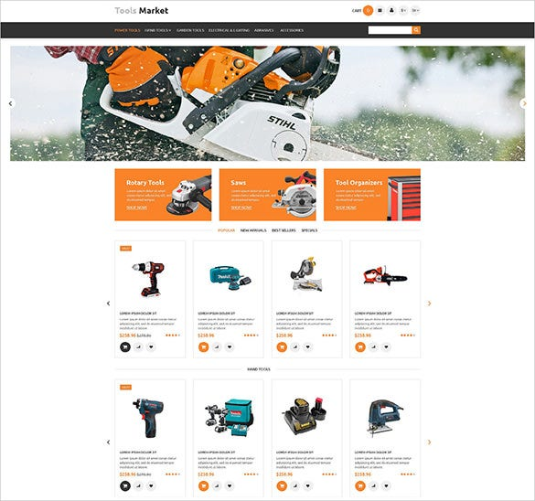 tools maintenance services prestashop template