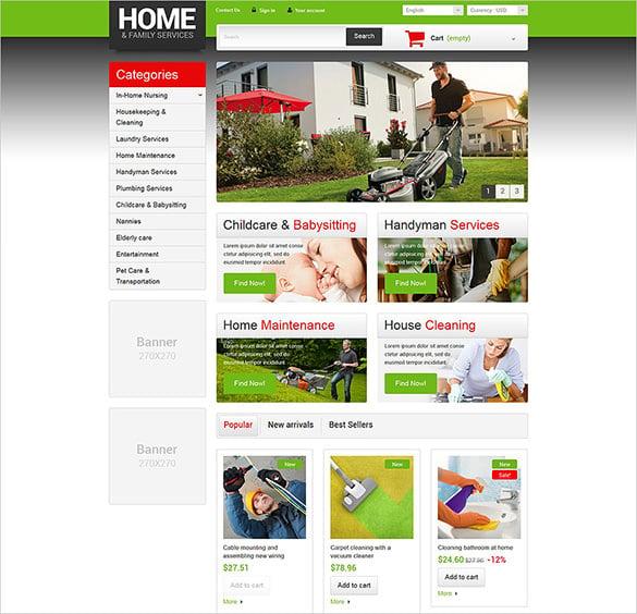 home maintenance services prestashop theme