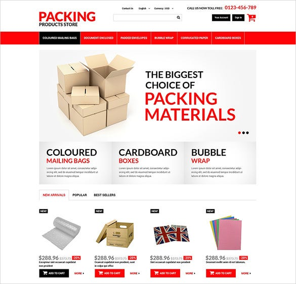 packing maintenance services prestashop theme