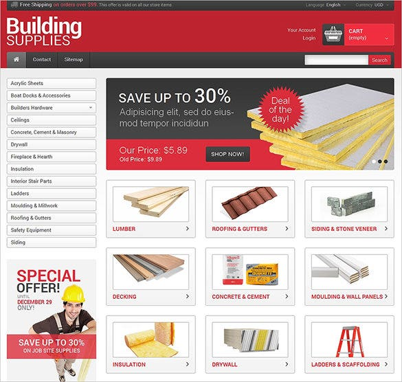 building maintenance services prestashop template