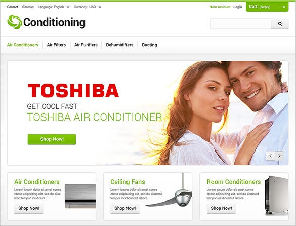 conditioning maintenance services prestashop theme