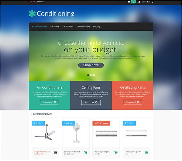 premium conditioning maintenance prestashop theme