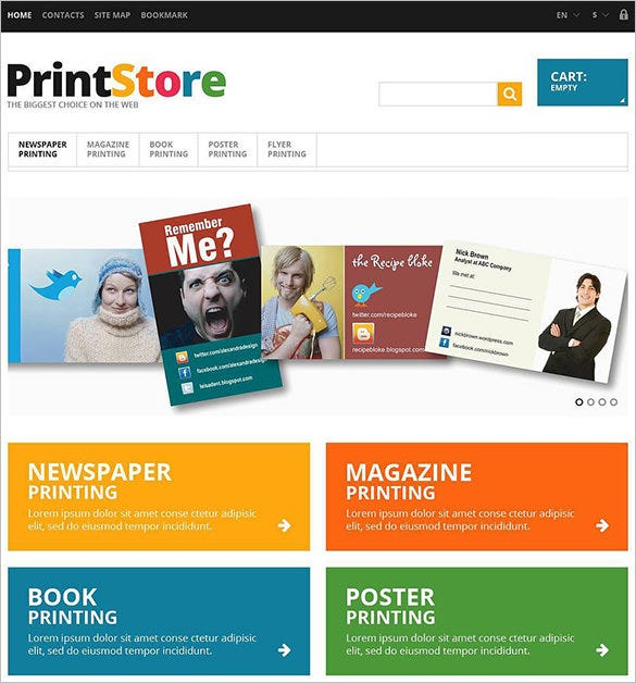 5 print shop prestashop themes templates free premium templates. Black Bedroom Furniture Sets. Home Design Ideas