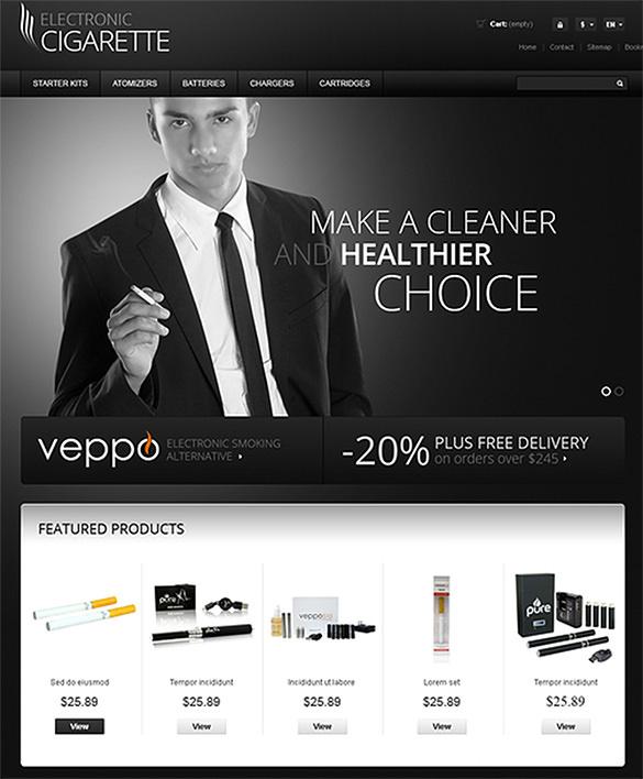 premium electronic cigarette tobacco prestashop theme