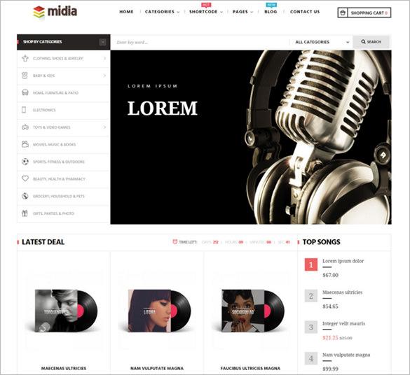 best responsive music store prestashop theme