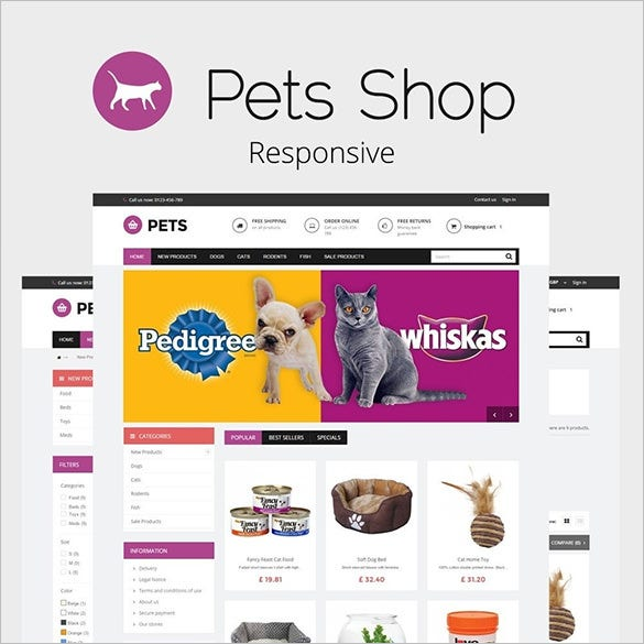 pets shop prestashop responsive template