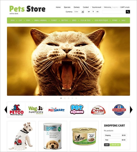 amazing pet store prestashop theme