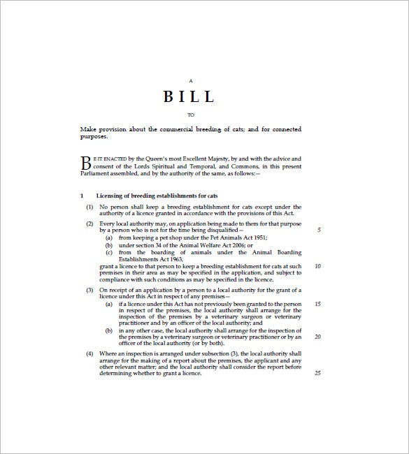 Cat Bill Of Sale   Free Sample Example Format Download  Free