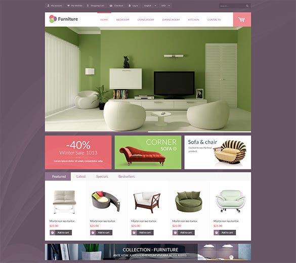 leo furniture prestashop theme