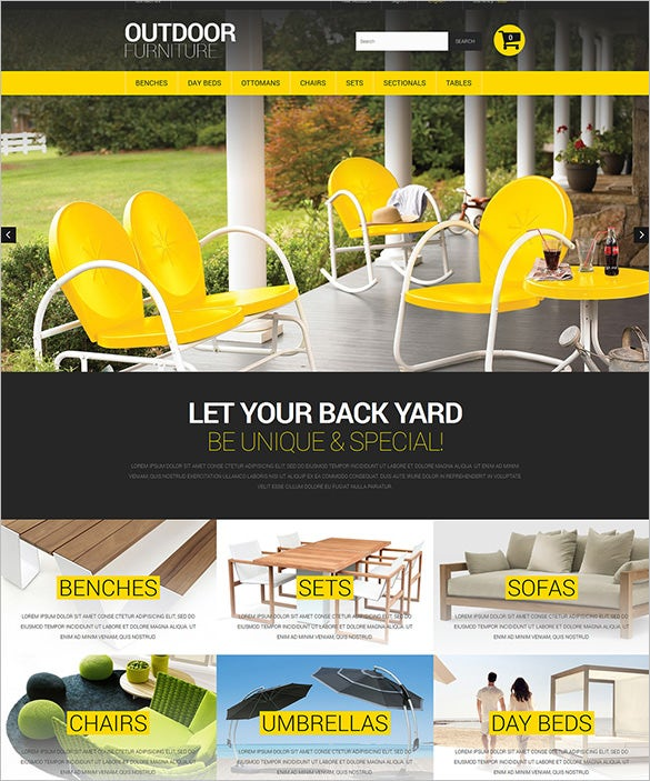 stylish outdoor furniture prestashop theme