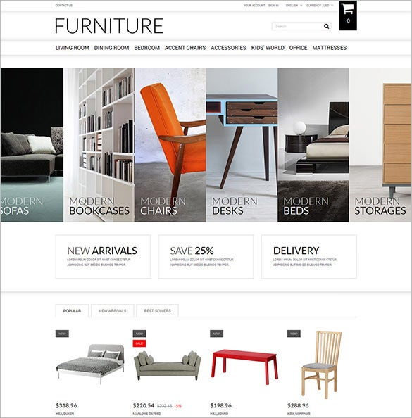 online furniture selling prestashop theme