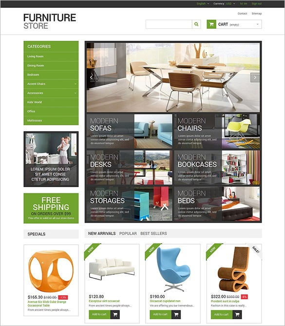interior furniture store prestashop theme