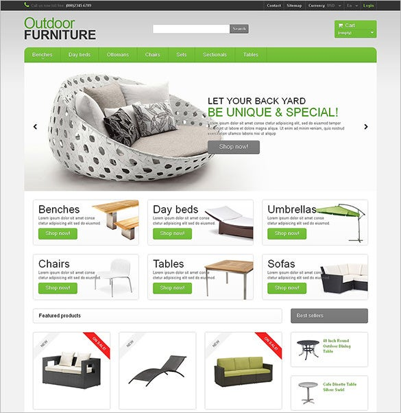 garden furniture sheds prestashop theme