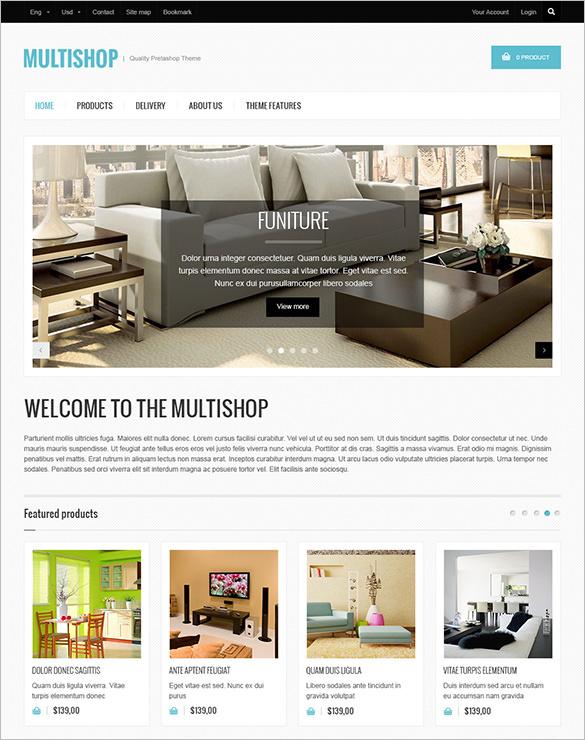 multishop furniture prestashop theme