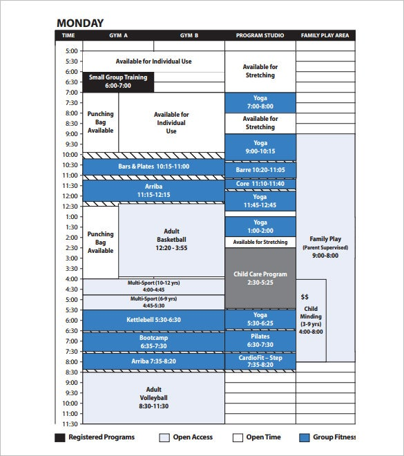 Program Schedule Templates Free Word Excel PDF Format - Program timeline template excel