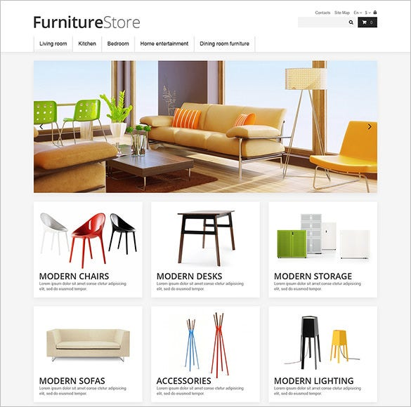 clean furniture store prestashop theme