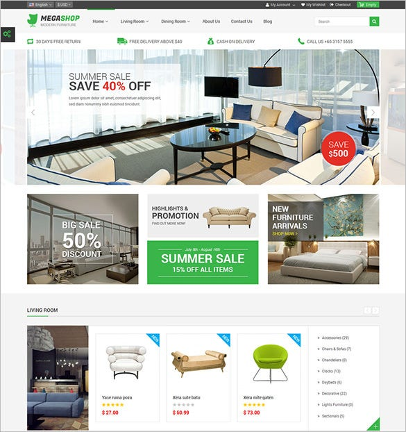 premium responsive furniture prestashop theme