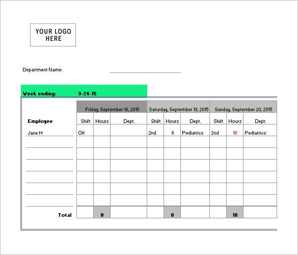Nursing Schedule Template   Free Word Excel Pdf Format Download