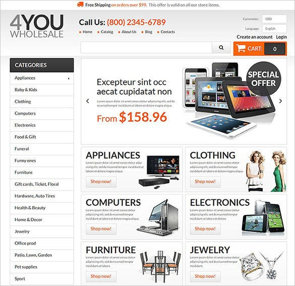 wholesale business services prestashop template