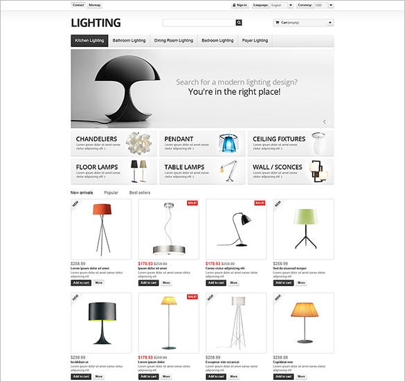 lighting interior prestashop theme