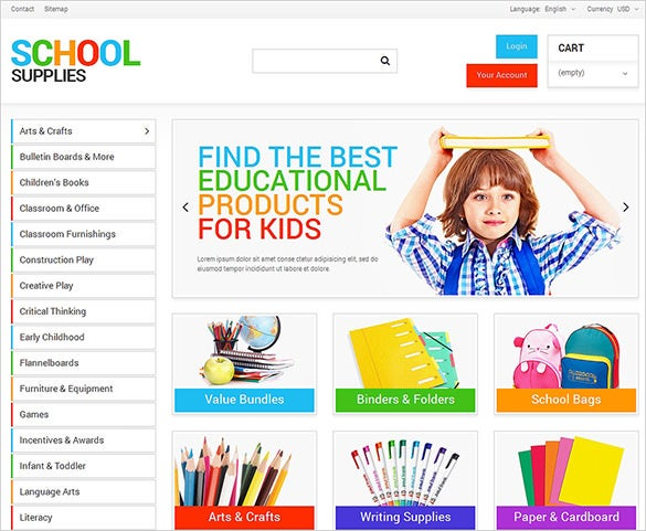 simple school business services prestashop theme