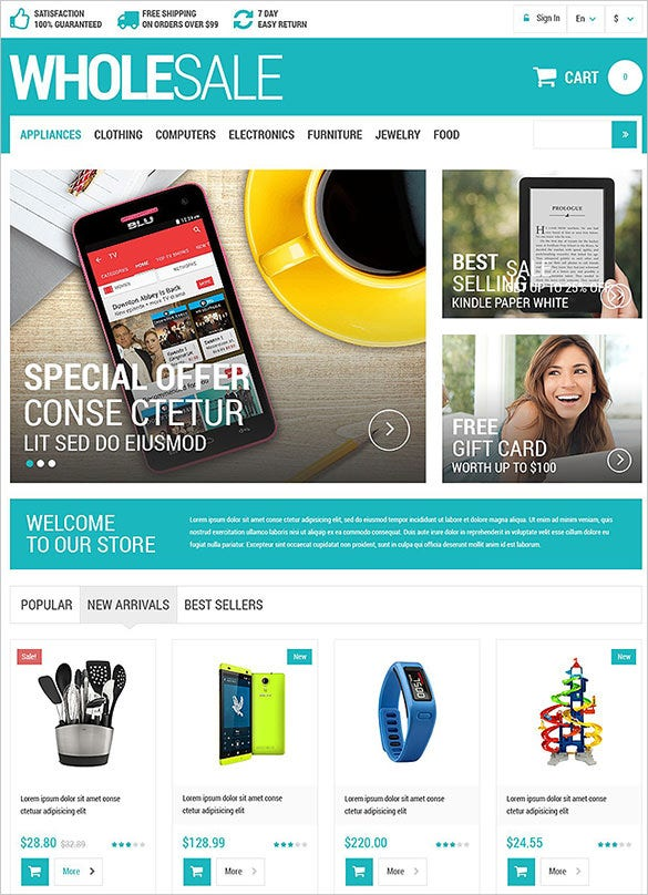 simple wholesale business services prestashop template