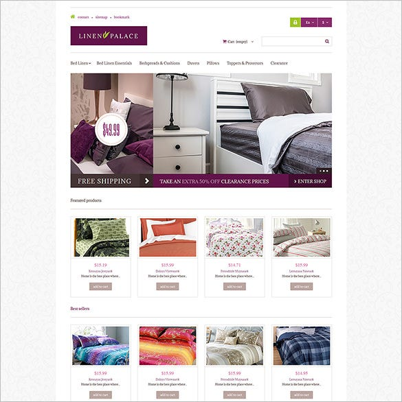linen palace prestashop theme