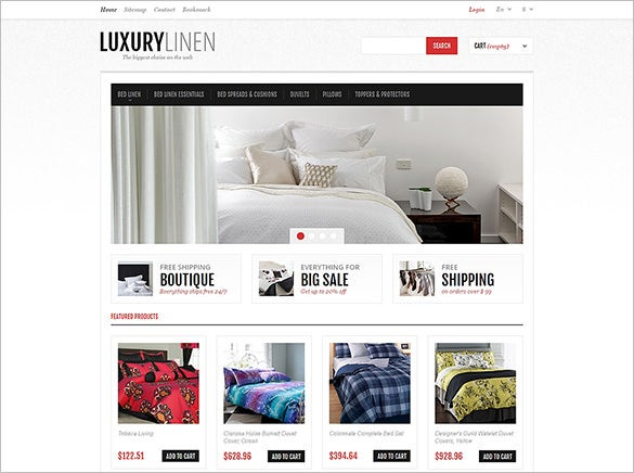 luxurious bed linen prestashop theme