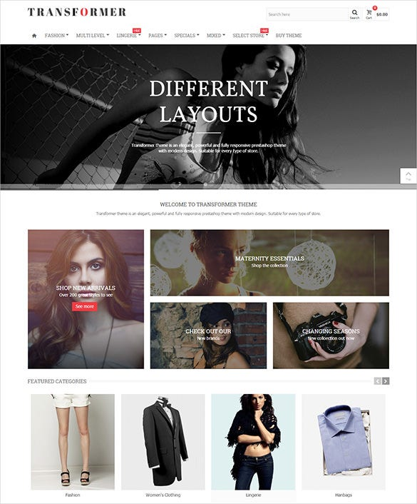 multi layout business services prestashop theme