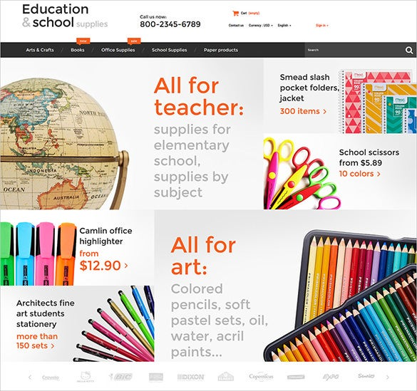 school business services prestashop theme