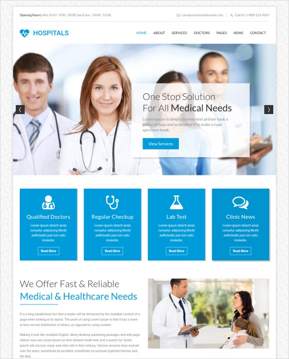 Multipurpose Medical PHP Template