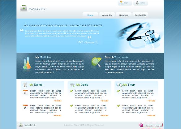 HealthCare Medicine Clinic Free CSS Website Template