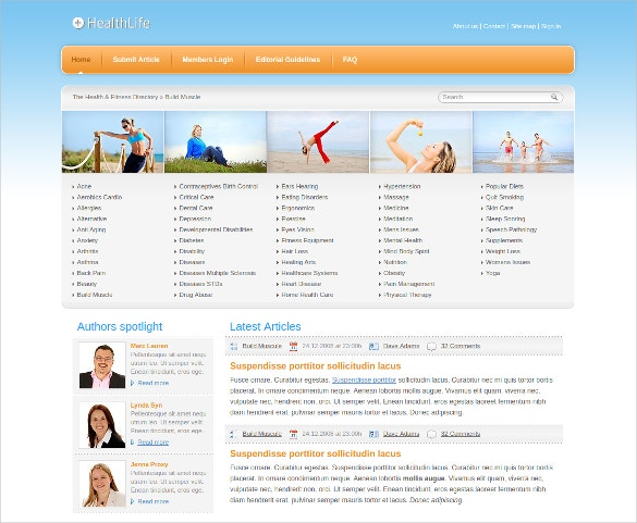 Health Life Website Template