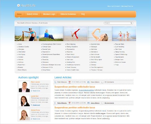 Health Life Website Template