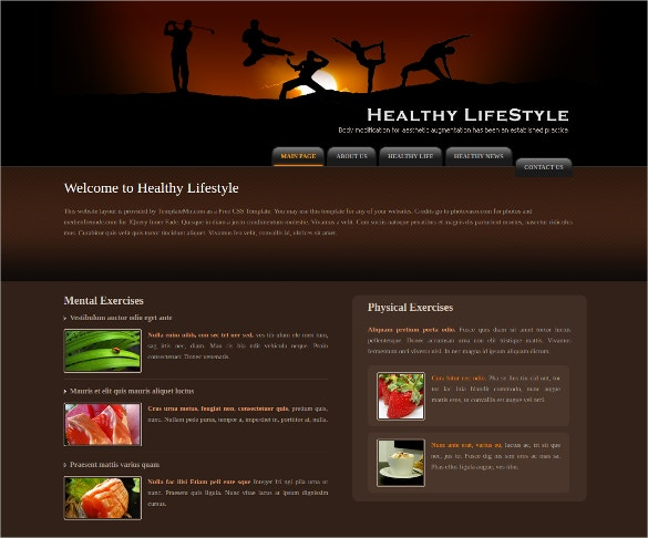 Health Life Style Website Template
