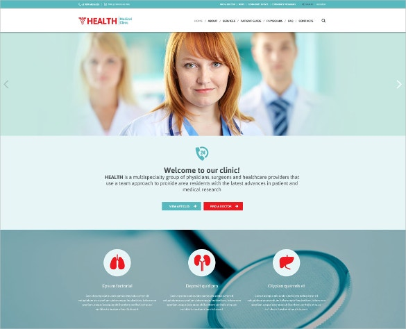Responsive HealthCare Website Template